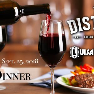 EVENT: Harvest Wine Dinner with The District & Luisa's Cellar – Sep 25, 2018