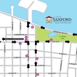 Free Trolley to Historic Downtown Sanford from Amtrak Auto Train or SunRail