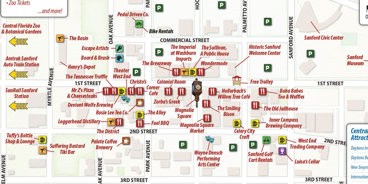 Map of Downtown Sanford FL
