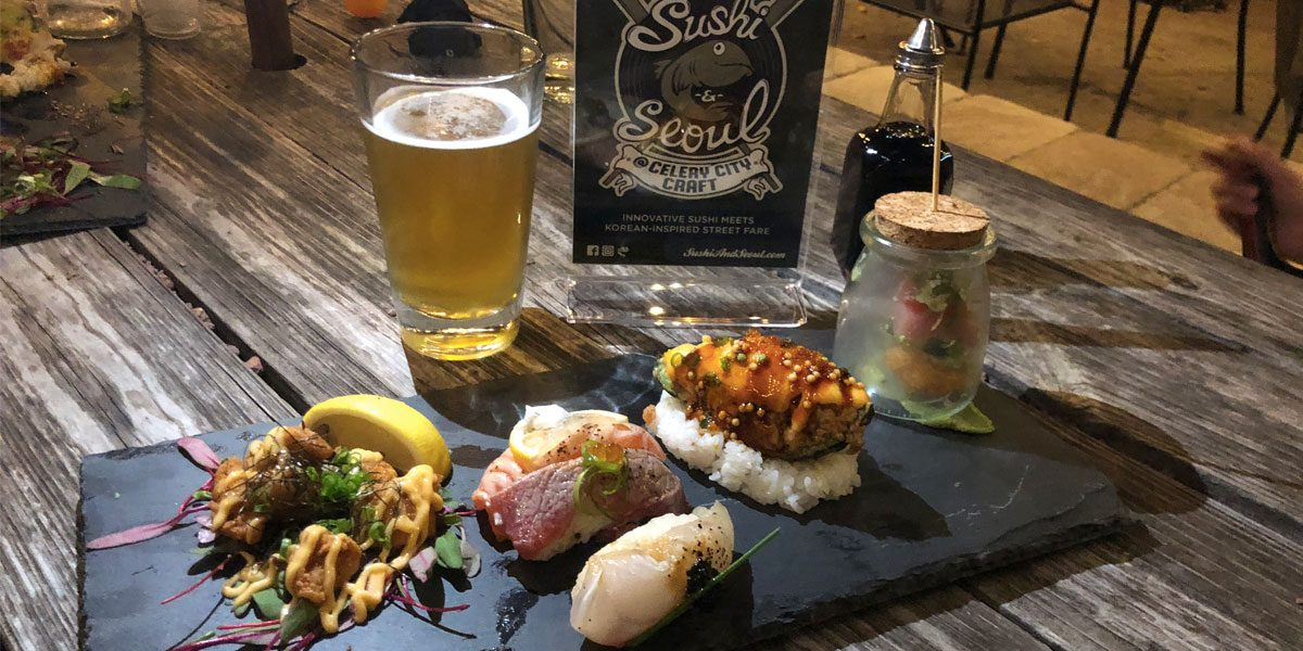 Sushi & Seoul at Celery City Craft