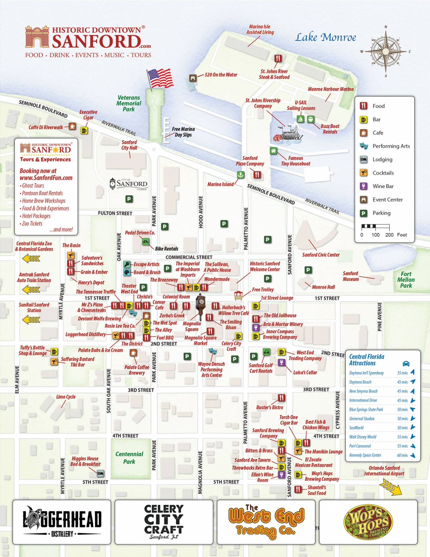 Parking Map of Historic Downtown Sanford