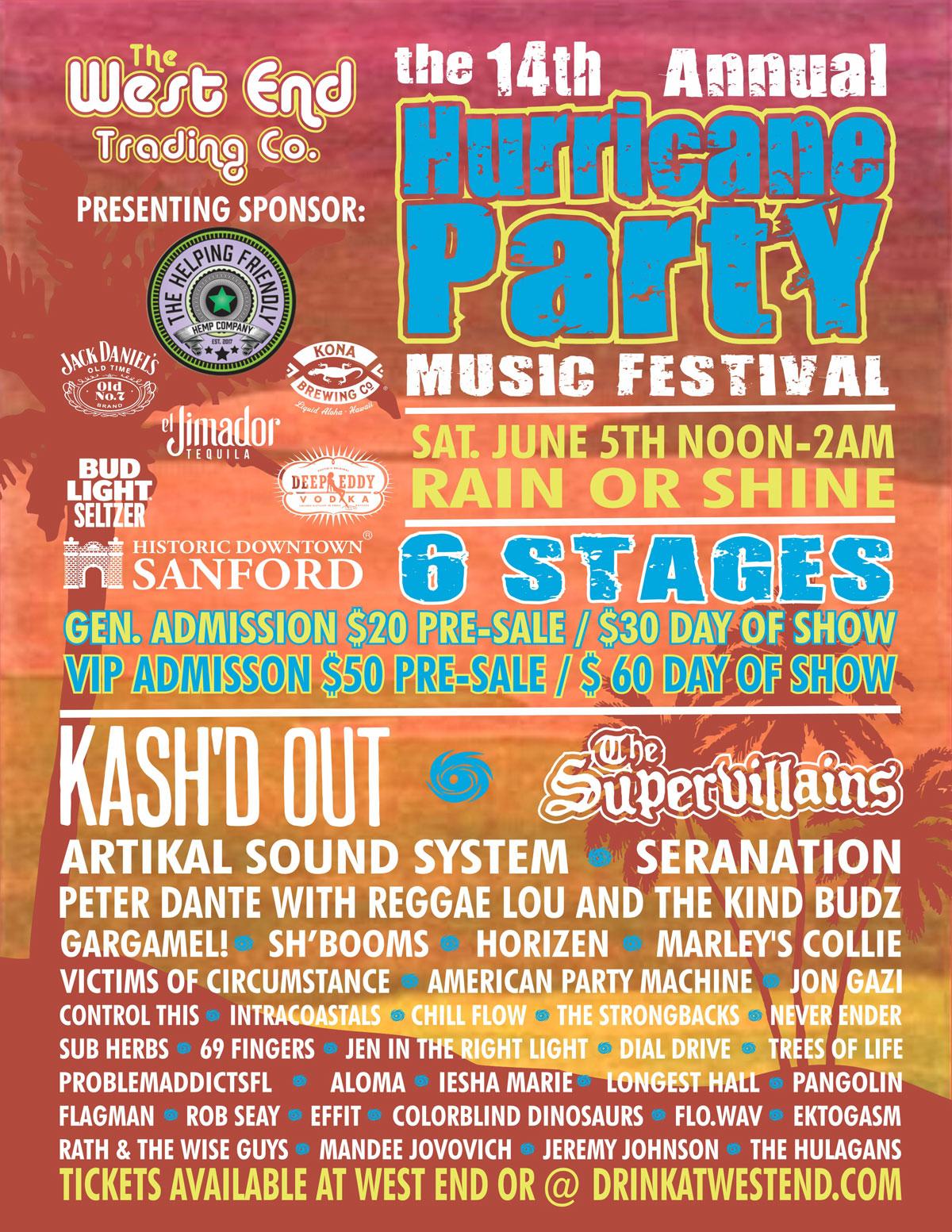 14th Annual Hurricane Party Music Festival