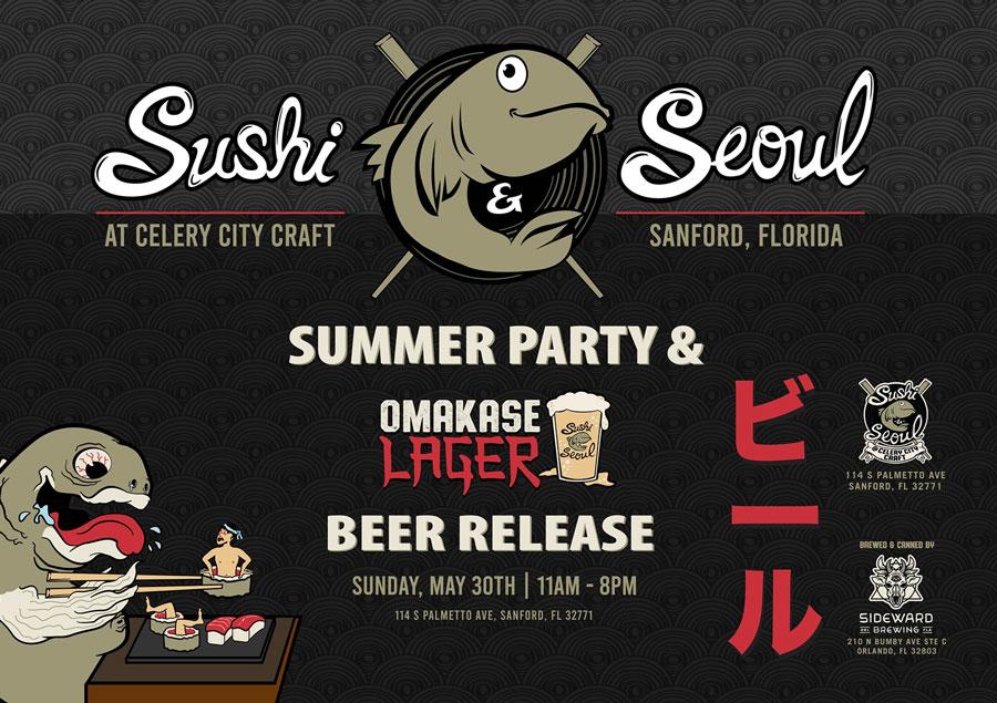 Sushi & Seoul Sideward Brewing Omakase Lager
