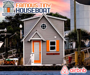 Famous Tiny Houseboat Airbnb